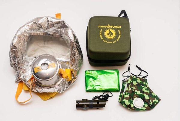Fayamask travel fire survival kit